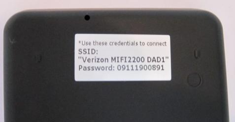 Verizon MiFi Label